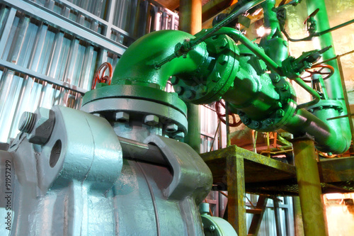 Valokuva  Factory equipment.Industrial business. Electric motor.