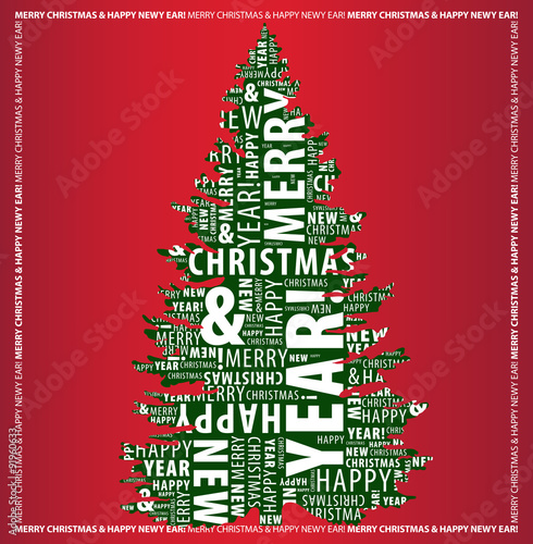 Merry Christmas Letter Y.Merry Christmas And Happy New Year Greeting Card With A