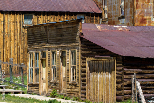 Photographie  Nineteenth-century St. Elmo mining town in the Colorado Rockies