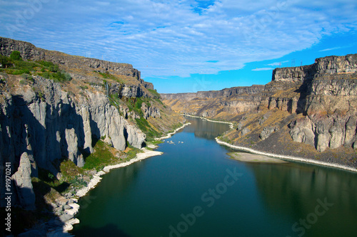 Fotobehang Rivier Snake River and its canyon as seen from Shoshone Falls near Twin Falls, Idaho