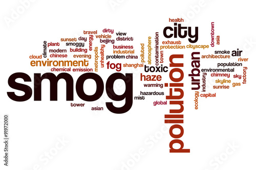Smog word cloud concept Poster