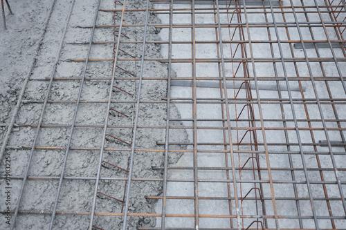 Fotografía  Fundament, Stahlbetonplatte