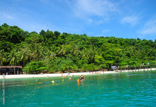 Photo Stands Water Motor sports People swimming in the sea