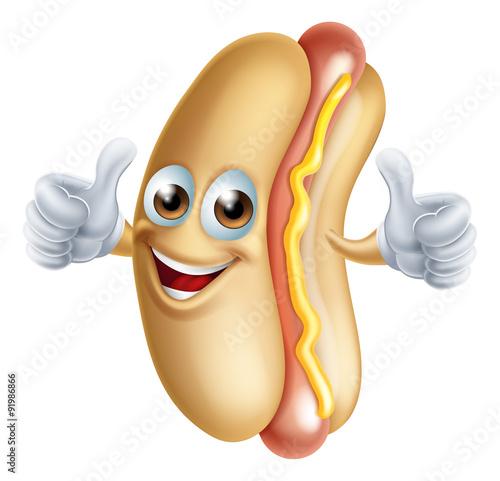 Photo  Hotdog Character
