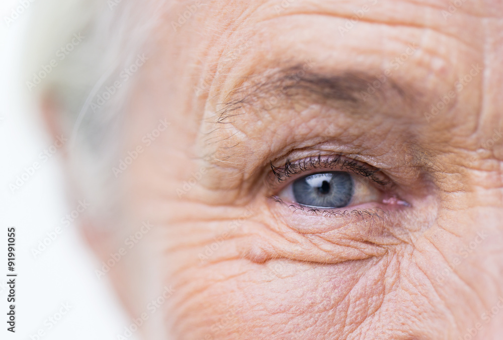 Fototapety, obrazy: close up of senior woman face and eye