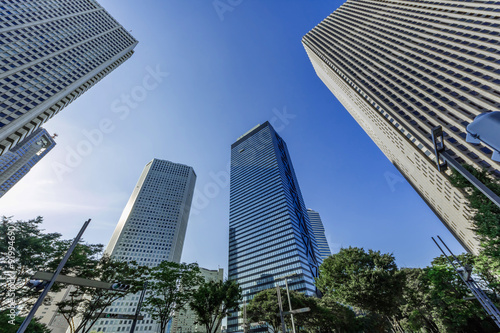 Fotografia, Obraz  日本の首都 高層ビル群  Japanese skyscraper business area