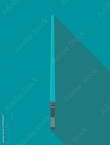 Photo  vector illustration lightsaber