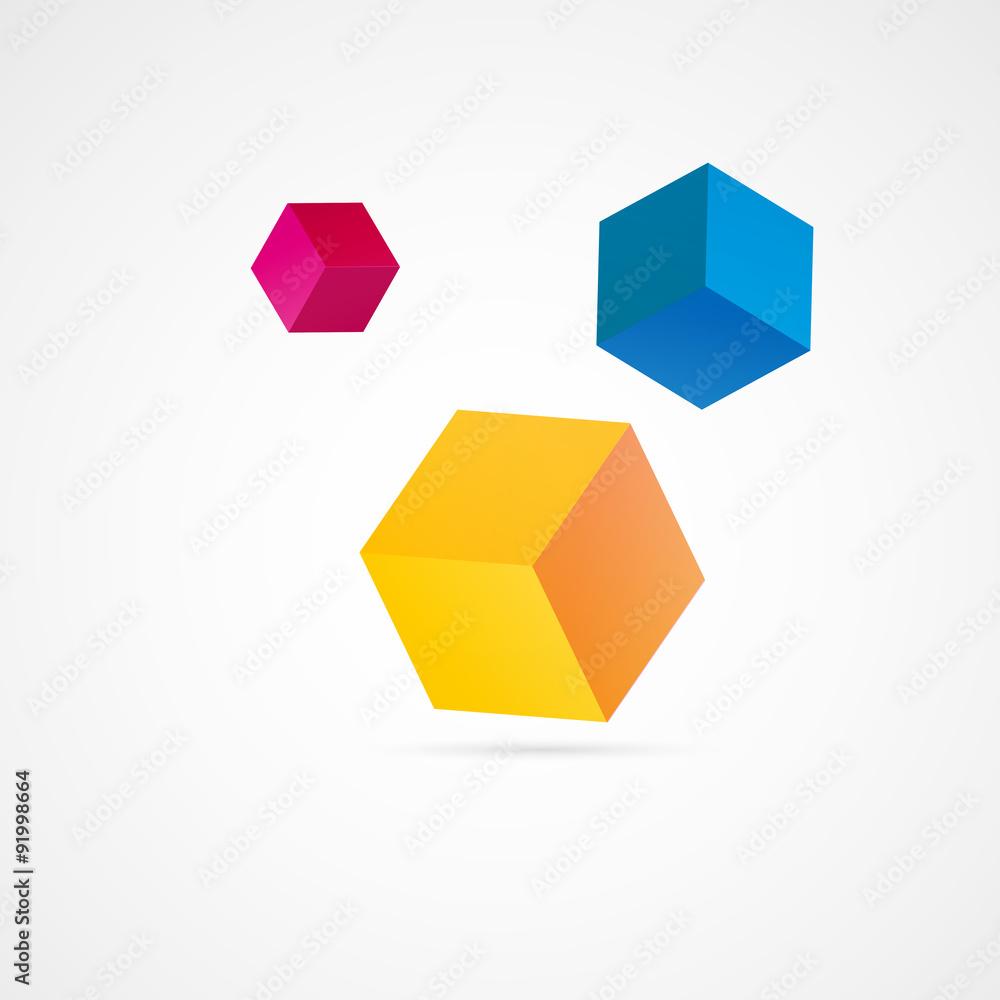 Fototapeta cube coloré
