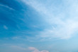 canvas print picture - Abstract white cloud over clear blue sky background