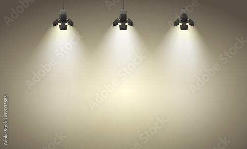 Foto op Canvas Licht, schaduw Spotlights