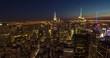 New York City skyline sunset evening timelapse buildings
