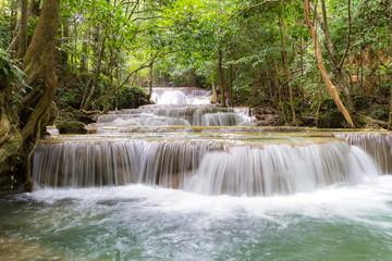 Fototapeta Wodospad limestone waterfalls, Huay mae khamin