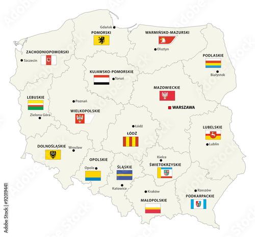 polska-mapa-administracyjna-z-flagami
