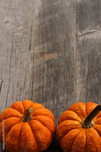 Fototapeta Fall background with pumpkins obraz na płótnie