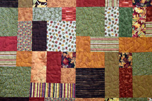 Autumn Patchwork Quilt Backgro...
