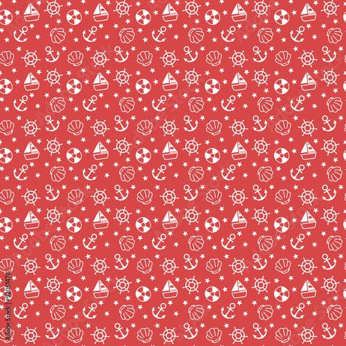 czerwone-wzory-marynistyczne