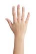 Leinwandbild Motiv Woman open hand with french manicure