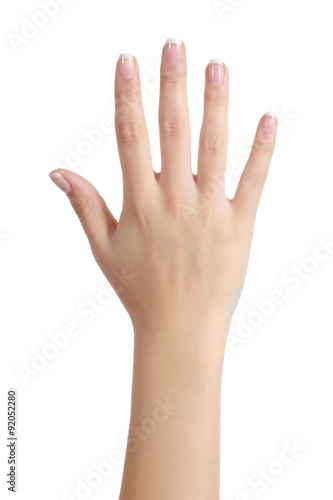 Fotografia Woman open hand with french manicure
