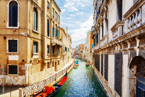 Fototapety, obrazy: View of the Rio Marin Canal from the Ponte de la Bergami, Venice