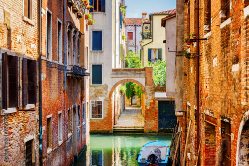 Scenic view of the Rio Terra Secondo Canal in Venice, Italy