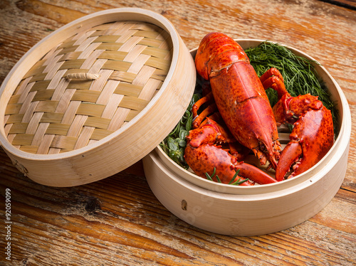 Canvastavla  Fresh steamed lobster