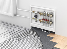 Underfloor Heating With Collec...