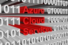 Azure Clouds Services Is Presented In The Form Of Binary Code
