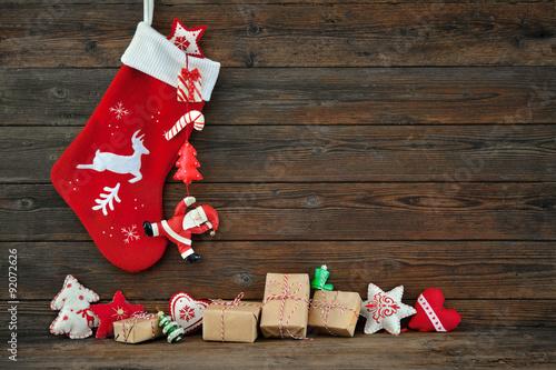Photographie  Christmas decoration stocking