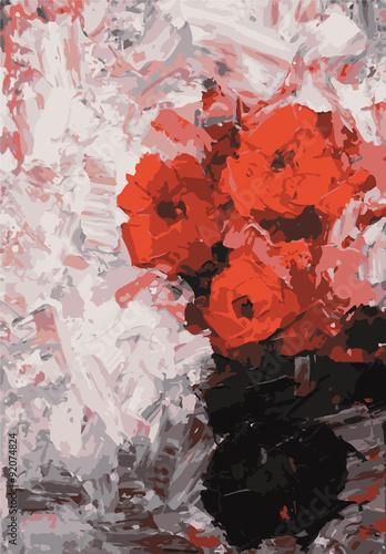 obraz-olejny-z-czerwonymi-makami-w-wazonie
