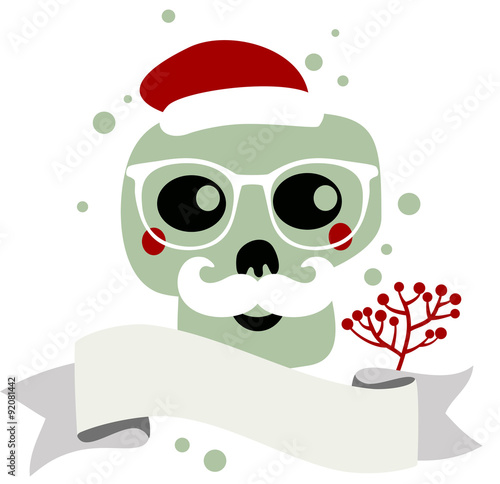 Santa Claus skull. Tablou Canvas