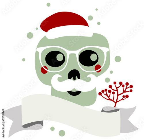 Fotografie, Tablou  Santa Claus skull.