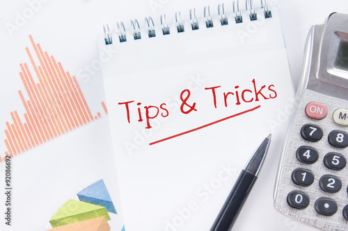 Tips and Tricks concept - Financial accounting stock market graphs