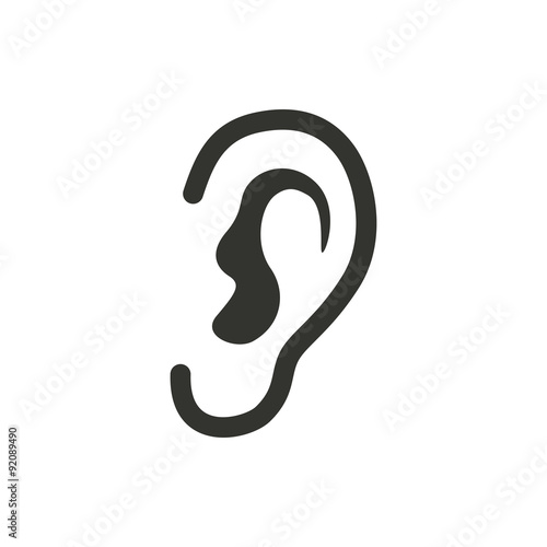 Ear   icon. Fototapet