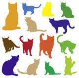Planche chats couleur