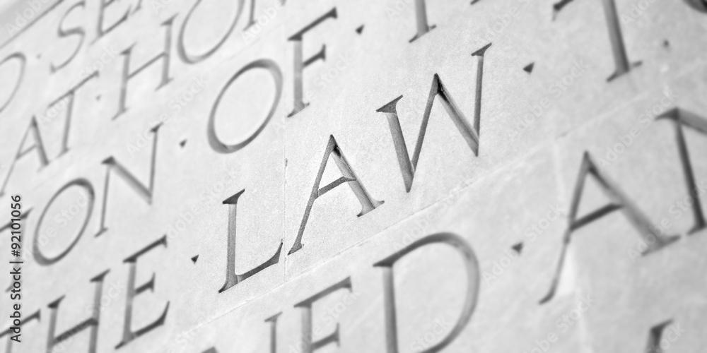 Fototapety, obrazy: Word Carved in Stone Granite