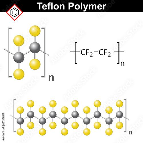 Fotografía  Teflon polymer structure