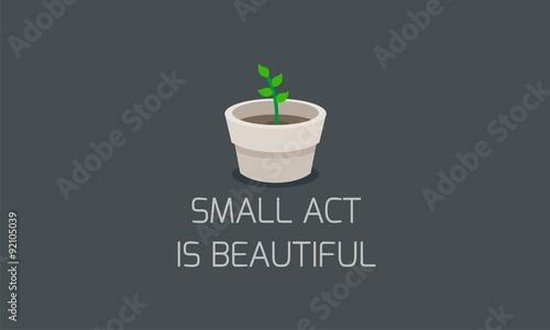 Fotografie, Obraz  plant flat - quotes