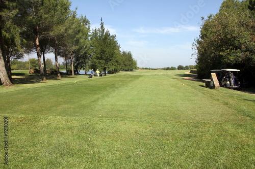 Aluminium Prints Garden Golf course,La Sella, Denia, Alicante, Spain