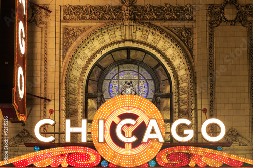 Poster de jardin Chicago The iconic marquee often appears in films and television