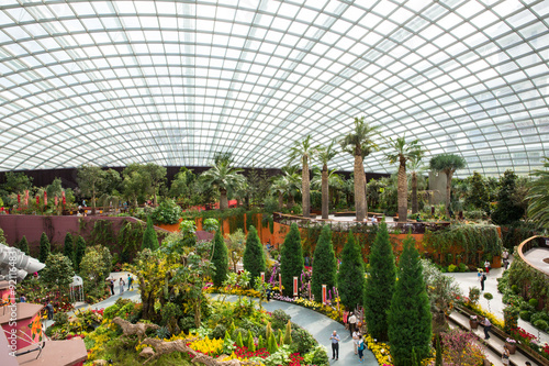 """Photo  Enormous Conservatory """"Flower Dome"""" at Gardens replicates the co"""
