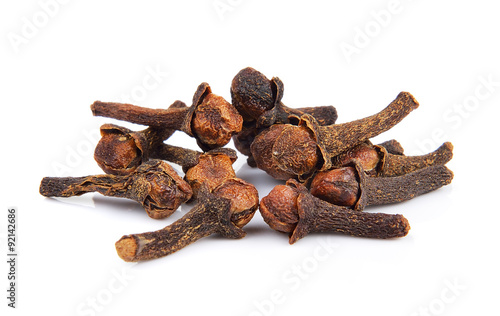 Recess Fitting Spices Spice cloves on white background