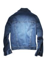 Back Side Of Blue Jeans Jacket