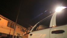 Actual LAPD Police Activity In Neighborhood Involving Police Cars, Sirens, Choppers At Night In Los Angeles, California