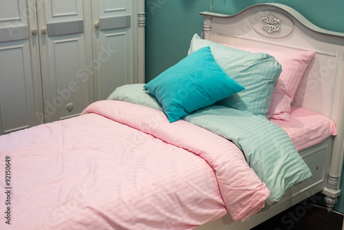 In de dag Kip Detail of bedrooms for girls