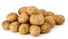 New Potato Tuber Isolated On W...