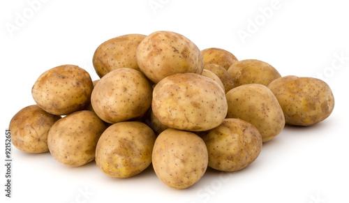 Valokuvatapetti new potato tuber isolated on white background cutout