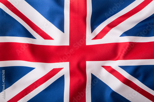 Closeup of Union Jack flag Fototapet