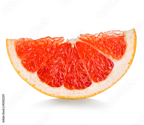 Fotografia  grapefruit slice isolated on white background