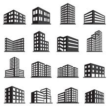 Buildings Icon And Office Icon...