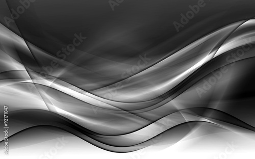 Staande foto Fractal waves Abstract Gray Background Design